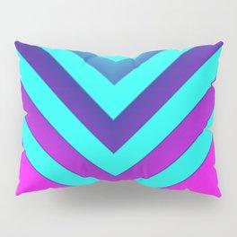 Pink & Aqua Chevron Pillow Sham