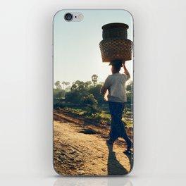 Lonely Burmese Farmer iPhone Skin
