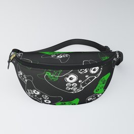 Video Game Black & Green Fanny Pack