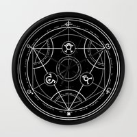 pentagram Wall Clocks featuring Pentagram by Maioriz Home