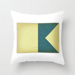 Vintage Nautical Flag Throw Pillow