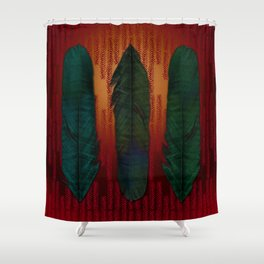 Feathers at campfire Shower Curtain