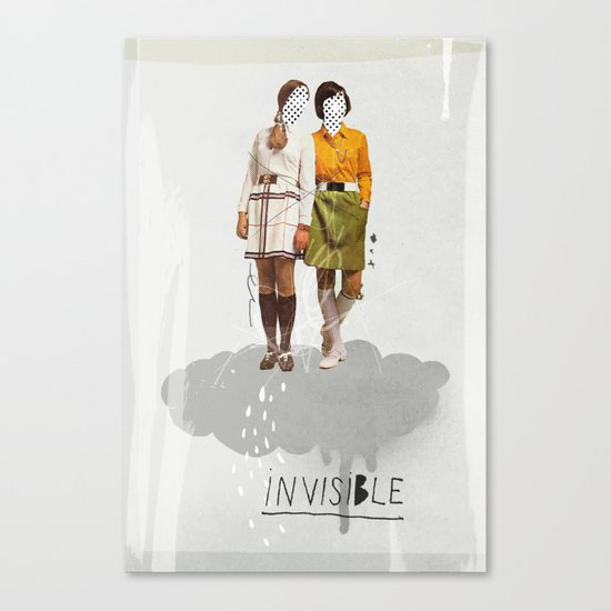 Invisible | Collage Canvas Print