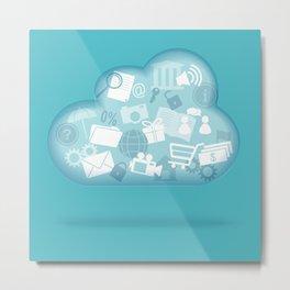 cloud technology Metal Print