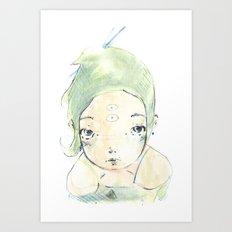 2015 Collection • Green Girl Art Print