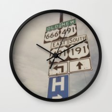 Old route... new route Wall Clock