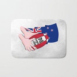 Rugby Ball New Zealand Bath Mat