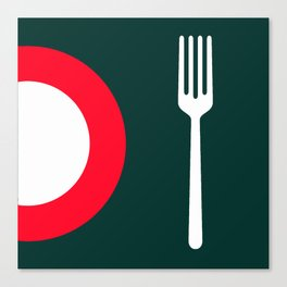 fork and plate Canvas Print