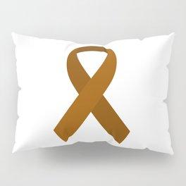 Brown Awareness Support Ribbon Pillow Sham