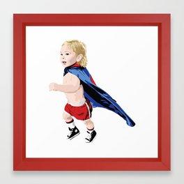 Superhero Kid Framed Art Print