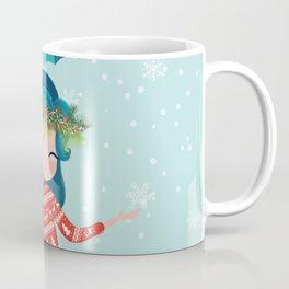 Christmas mermaid illustration Coffee Mug
