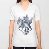 breathe V-neck T-shirts featuring Breathe by Norman Duenas