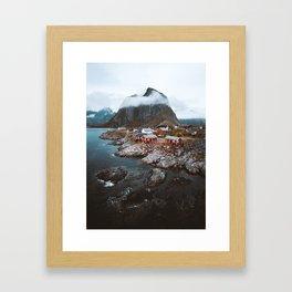 Hamnoy Village Framed Art Print