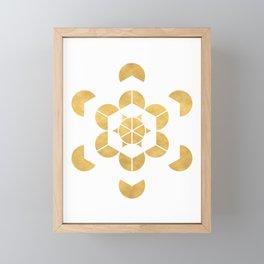 HEXAHEDRON CUBE sacred geometry Framed Mini Art Print
