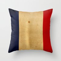 france Throw Pillows featuring France by NicoWriter