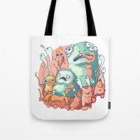 bubblegum Tote Bags featuring Bubblegum by Ceals