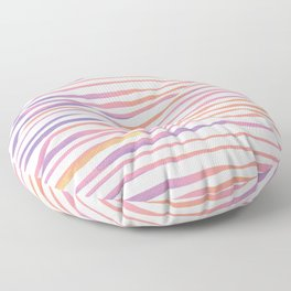 Irregular watercolor lines - pastel pink and ultraviolet Floor Pillow