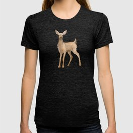 Cute Kawaii Brown Deer Watercolor Print T-shirt