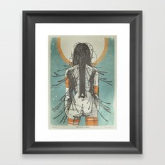 Nymph: Staring at the Sun (Ext) Framed Art Print