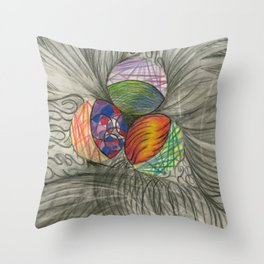 Draw What You Think Throw Pillow