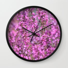 Pink Floral home decor Wall Clock