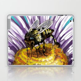 Wasp on flower 3 Laptop & iPad Skin