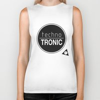 techno Biker Tanks featuring Techno Tronic by Thomas Official