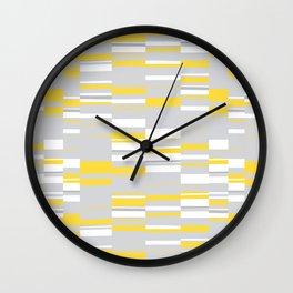 Mosaic Rectangles in Yellow Gray White #design #society6 #artprints Wall Clock