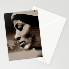 TALK TO THE LION... - sepia Stationery Cards