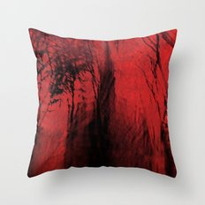 Blood red sky Throw Pillow