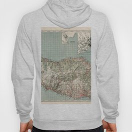 Map Of Madeira 1941 Hoody
