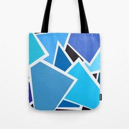 Retro Blue Mid-Century Vintage Minimalist Geometric Line Abstract Art Tote Bag