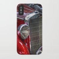 mercedes iPhone & iPod Cases featuring Old Merc red by Cozmic Photos