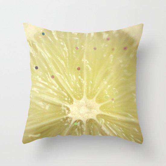 Sour Sparkles Throw Pillow
