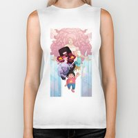 steven universe Biker Tanks featuring Steven by clayscence