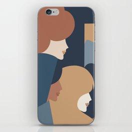 Girl Power portrait - we persist - Earthy #girlpower iPhone Skin
