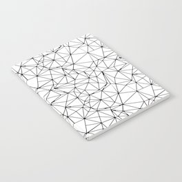 Mosaic Triangles Repeat Seamless Pattern Black and White Notebook