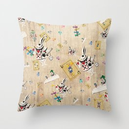 I'm Late I'm Late Throw Pillow