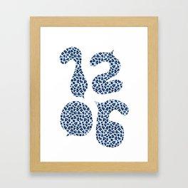 1206 Leopard Spots (Light Blue) Framed Art Print