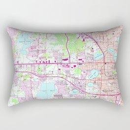 Vintage Map of Western Orlando Florida (1956) Rectangular Pillow