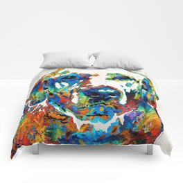 Labrador Retriever Art - Play With Me - By Sharon Cummings Comforters