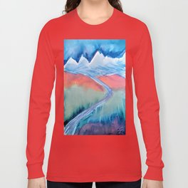 The Himalaya and The River Ganges Long Sleeve T-shirt