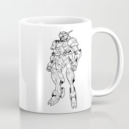 Gundam Barbatos Outline Black Coffee Mug