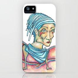 Blue Hat Woman iPhone Case