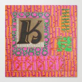 Alpha-Numero: K Canvas Print