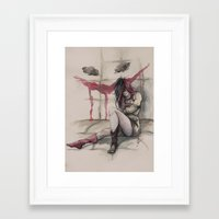 harley Framed Art Prints featuring Harley by Alonzo Canto