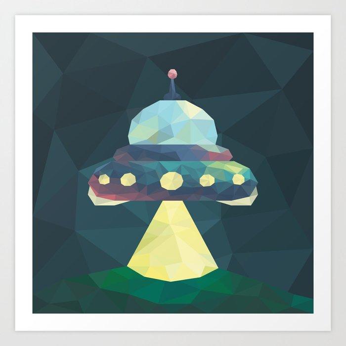 Spaceship. Art Print