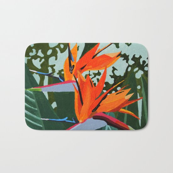 Strelitzia - Bird of Paradise Bath Mat
