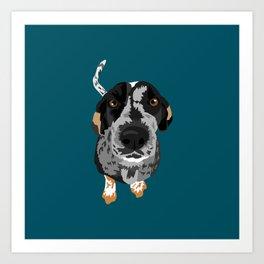 Greta bluetick coonhound Art Print
