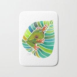 Frog On A Leaf Bath Mat